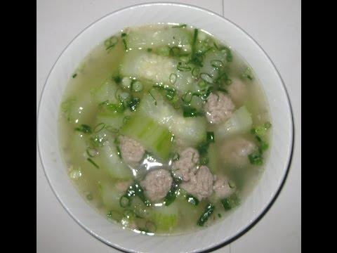 Winter Melon Soup (CANH BI DAO XUONG HEO) with Pork Bone