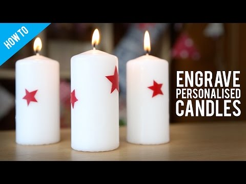 DIY Engraved Wax Candles