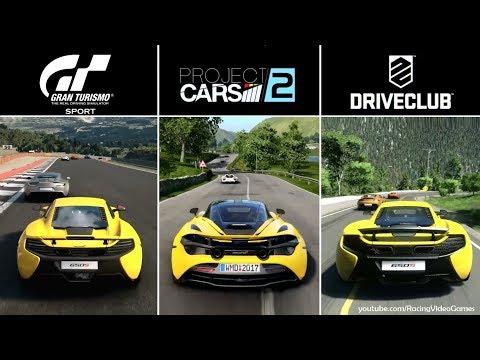 Gran Turismo Sport vs. Project CARS 2 vs. DriveClub   ''Time of Day'' Graphics Comparison PS4