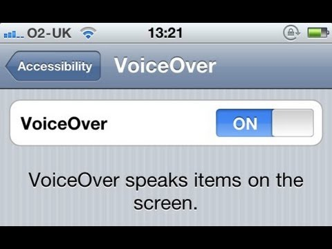 How to turn voice over off
