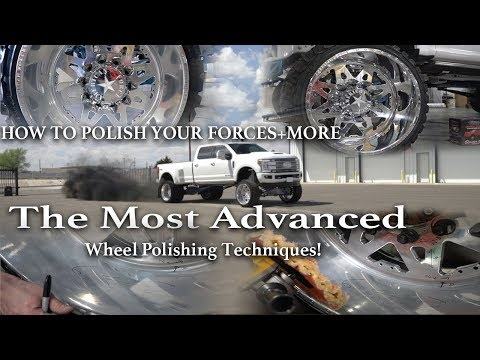 Polishing american force wheels on huge trucks using zephyr polishes! HOW TO VIDEO INCLUDED