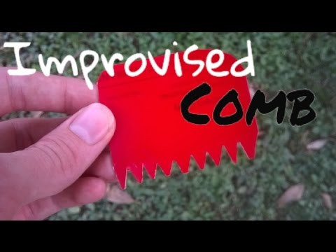 How to make an Improvised Comb from a Credit Card!(Simpy Project)
