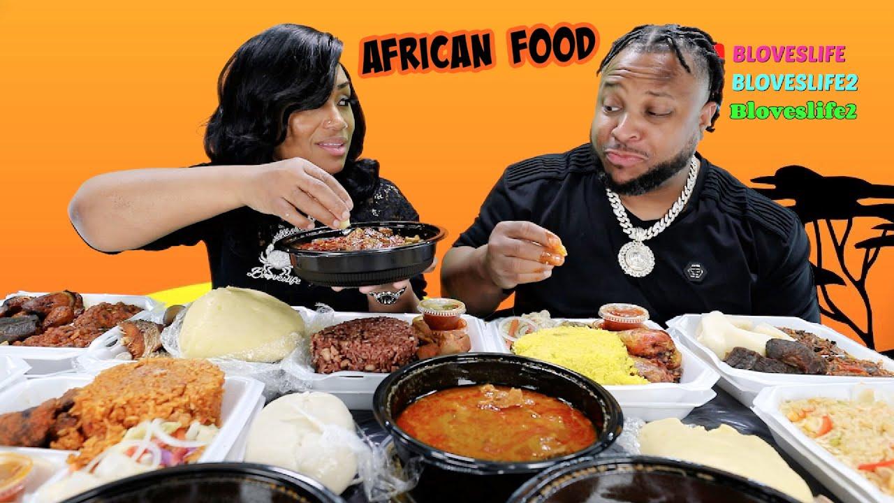 African Food Mukbang Challenge | Fufu, Banku, Pepper Soup, and Goat