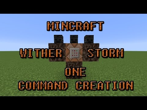 Minecraft One Command Creation The Wither Storm Boss Fight!!!!!