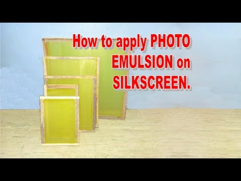 How to apply Photo Emulsion on silkscreen