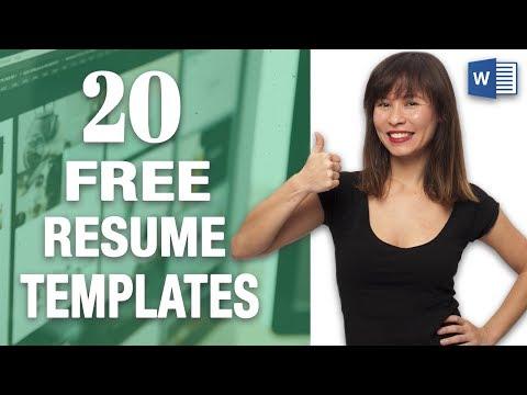 20 FREE Word Resume Templates 📄