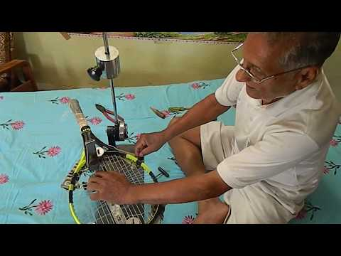 5 Tennis Racquet Restringing at Home  Part E