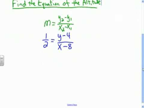 Finding the equation of an altitude