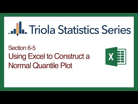 Excel Section 6-5: Using Excel to Construct a Normal QQ Plot