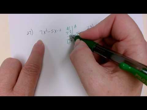 AC Method Factoring