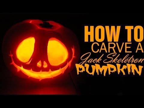 DIY ● How to Carve a Jack Skellington Pumpkin for Halloween!