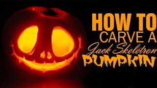 Diy How To Carve A Jack Skellington Pumpkin For Halloween
