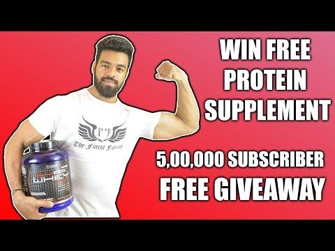 Free Protein Giveaway | 5,00,000 Subscribers | Nikhil Nautiyal Fitness