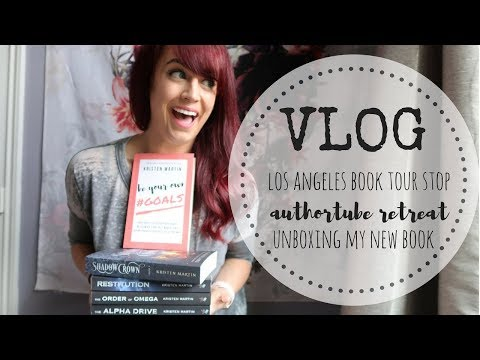 VLOG | L.A. Book Tour Reveal | Unboxing My Upcoming Book | AuthorTube Retreat Info