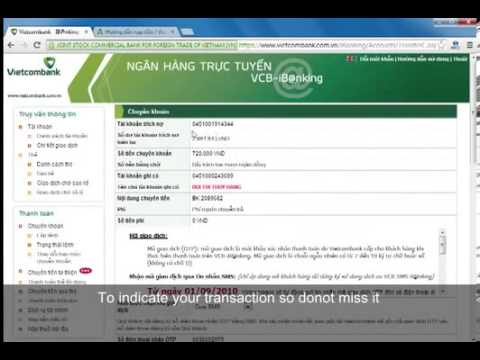 How to buy Bancore Voucher from Vietcombank account