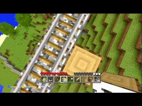 Minecraft for Xbox 360! - Minecart Ride!