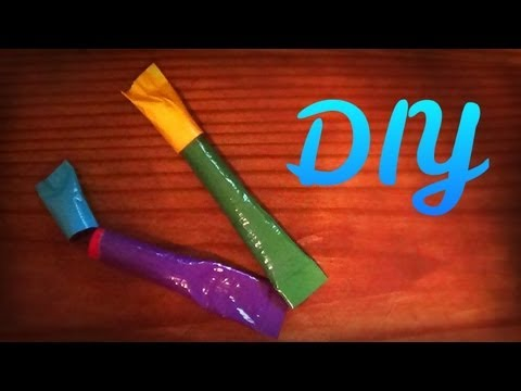 How to make a Lipstick Container out of Duct Tape -HowToByJordan