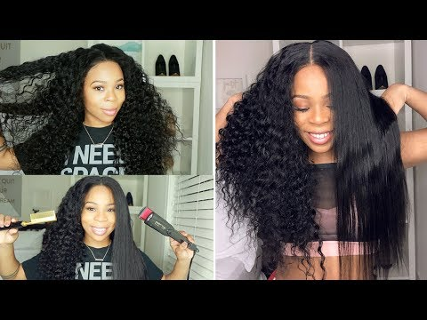 FlatIron Test: Straightening 13x6 Deep Wave Lace Wig , Will it revert back? | MSBUY HAIR