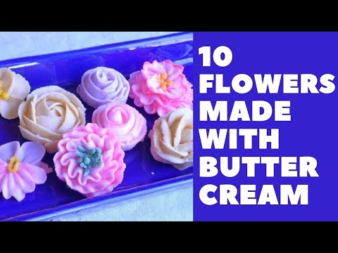10 Buttercream Flowers