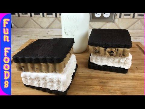 Homemade Ice Cream Sandwich with edible cookie dough
