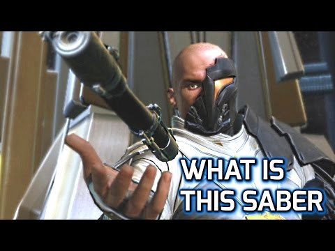 SWTOR: Is Arcann Playing with his 2nd Lightsaber or with Thexan's ? Or is Bioware Just Lazy