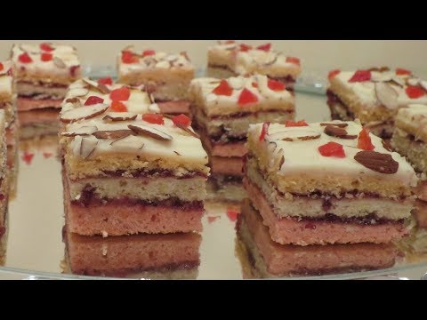Cherry Almond Bit Sized Cakes