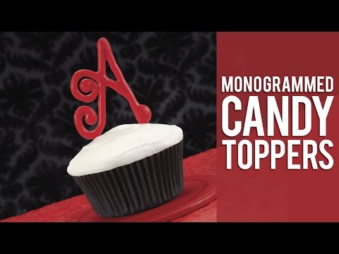 Making a Monogramed Topper with Candy Melts® candy