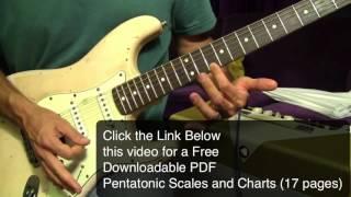 3 Blues Licks (Shock The World with ROCK) BONUS Pentatonic Scale PDF FREE