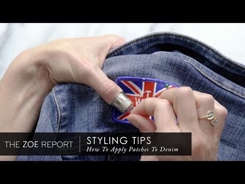 How To Apply Patches To Denim | The Zoe Report by Rachel Zoe