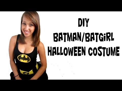 Batman/ Batwomen Costume (FAST EASY SIMPLE DIY)