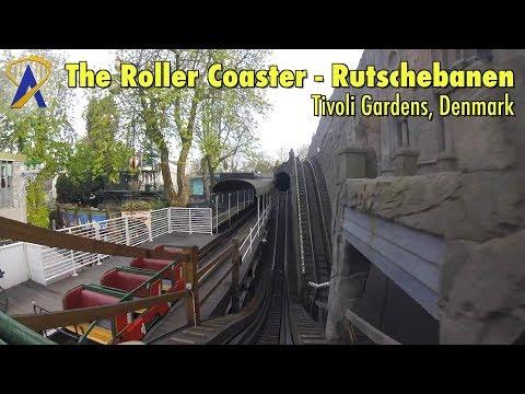The Roller Coaster - Rutschebanen POV at Tivoli Gardens in Copenhagen, Denmark