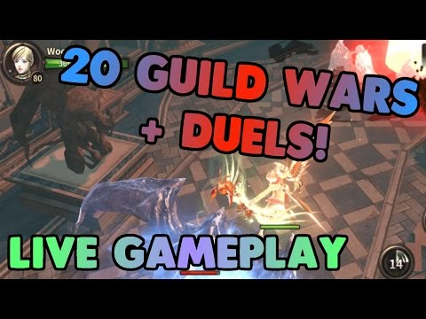 Live Guild War + Duels! Lena PVP Tips | HIT Heroes of Incredible Tales