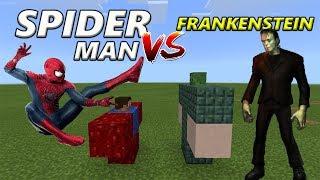 Spider-Man vs Frankenstein | Minecraft PE