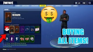 buying all new season 3 fortnite items new item showcase the reaper - new fortnite axe