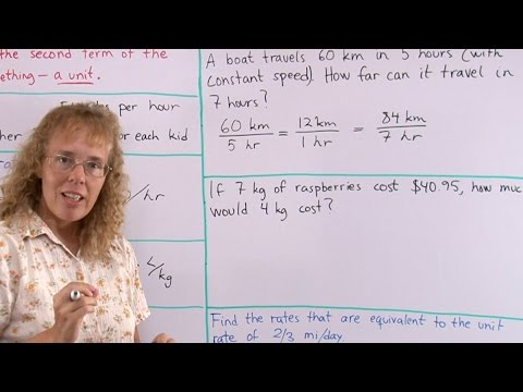 Word problems involving unit rates and equivalent rates