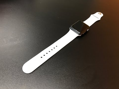 Unboxing Apple Watch White Sport Band! Looks on Space Gray 42mm
