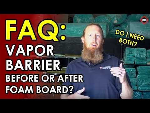 How to install Crawl Space Vapor Barrier and Foam Board on Walls | Crawl Space Plastic Encapsulation
