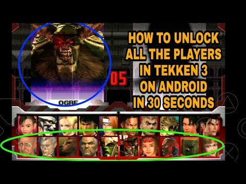 How to unlock all players in Tekken 3 android