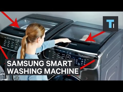 Samsung's smart FlexWash FlexDry washing machine