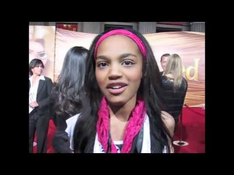 First Interview with Disney's newest star CHINA McCLAIN at TANGLED Premiere!.flv