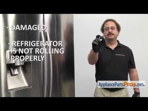 Refrigerator Front Caster Wheel (Part #DA61-04702A) - How To Replace