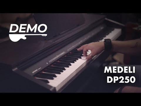 Medeli DP250 Digital Piano Keyboard Demo - 88 Key Weighted Touch Sensitive