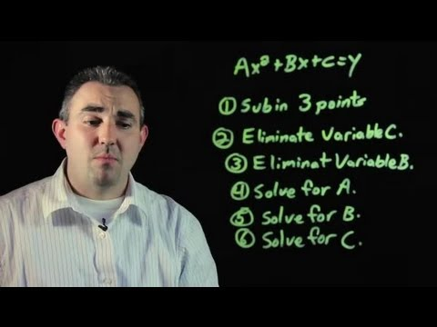 How to Write a Quadratic Equation Given 3 Points : Algebra, Geometry & Other Math Tips