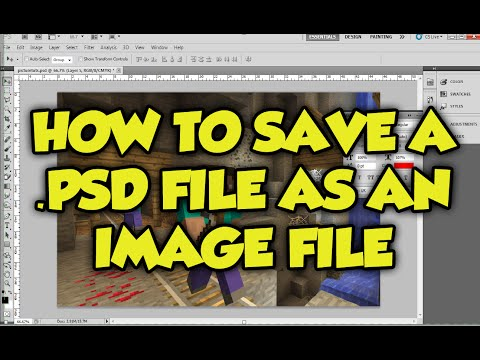 Photoshop tutorial: How to save a .PSD File (Photoshop File) as a JPEG, PNG file (1 minute tutorial)