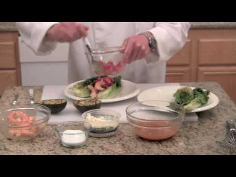 Shrimp Salad with Grilled Lettuce