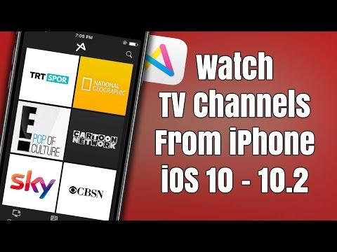 How to watch TV Channels on your iOS Device iOS 10 - 10.2 without a Computer!