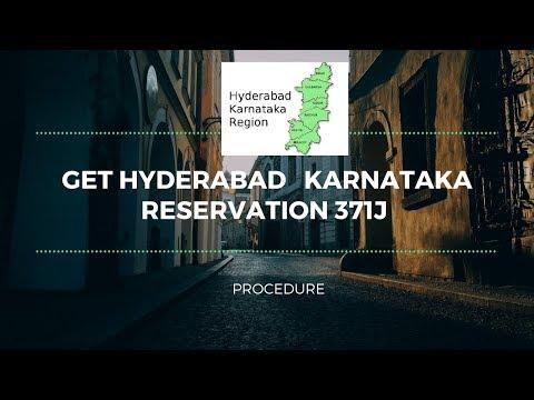 How to Get Hyderabad Karnataka Reservation 371J certificate • Procedure