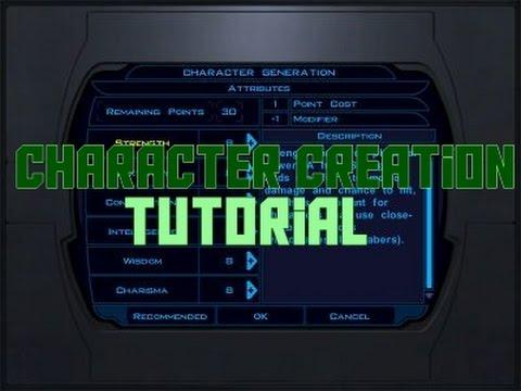 Star Wars KOTOR: Character Creation Tips