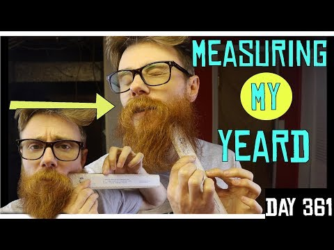 YEARD MEASUREMENTS | BEARD LENGTH AFTER ONE YEAR of HAIR GROWTH |  NO TRIM, NO CUT, NO SHAVE