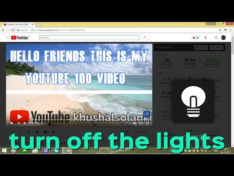 Turn Off The Lights Google Chrome Free Extension